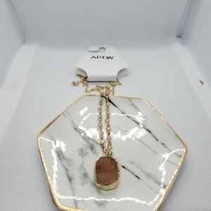 NWT Apt. 9 Gold & Pink Necklace